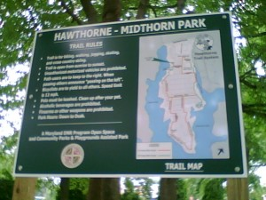 Hawthorne Trail map